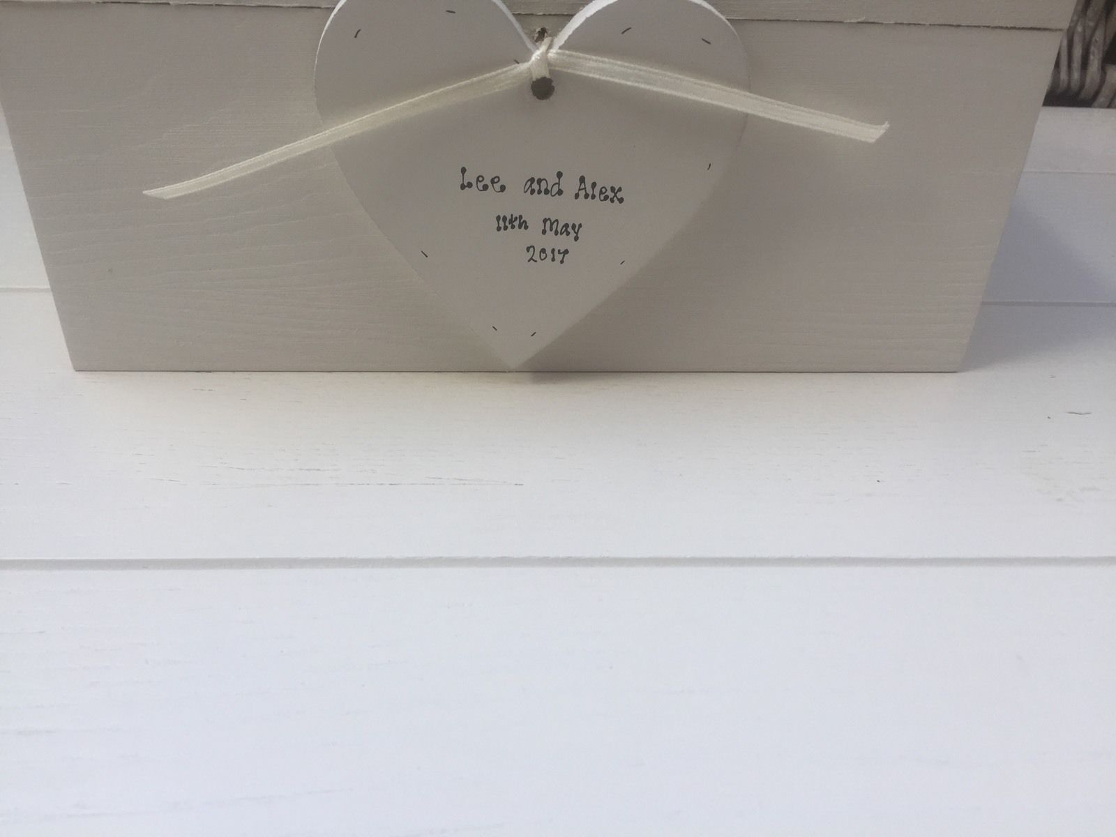 Shabby Personalised Chic Wedding Vows Renewal EXTRA LARGE Gift ...
